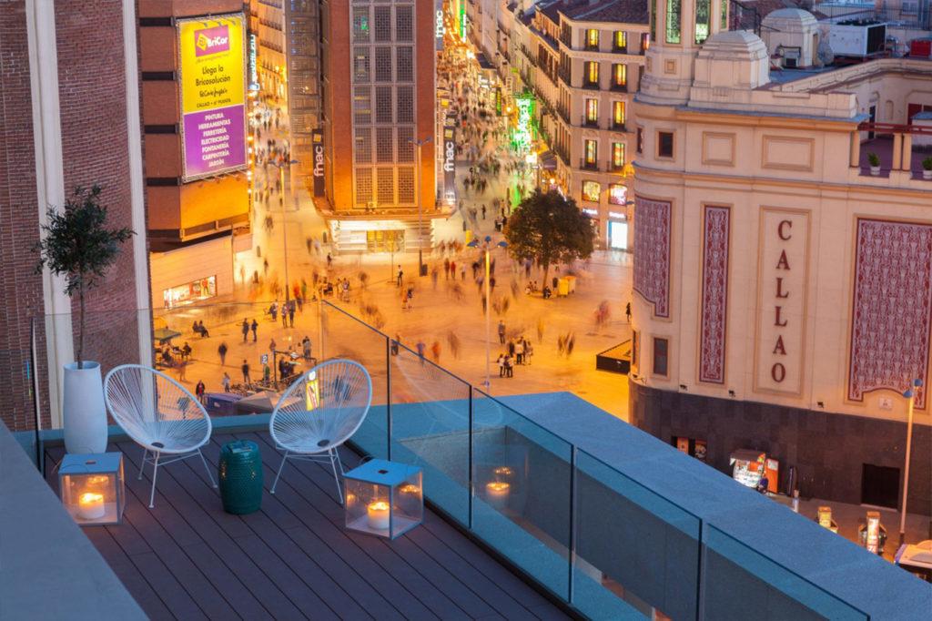 aparthotel con terraza en Madrid
